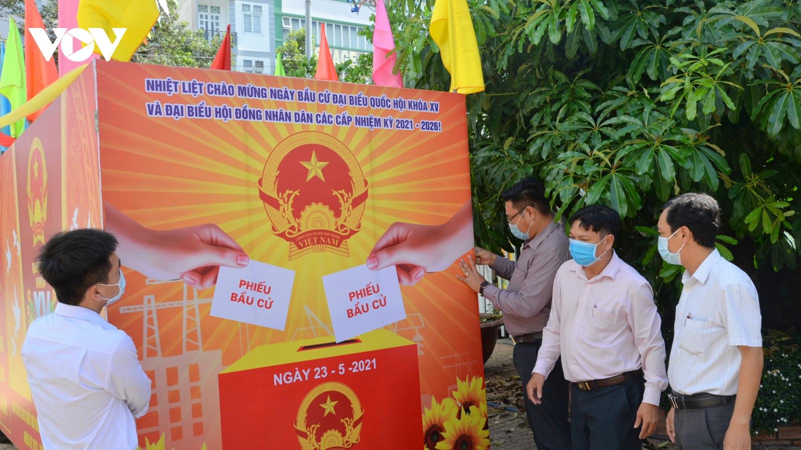 Ảnh: Các tỉnh, thành vùng ĐBSCL sẵn sàng cho ngày hội bầu cử