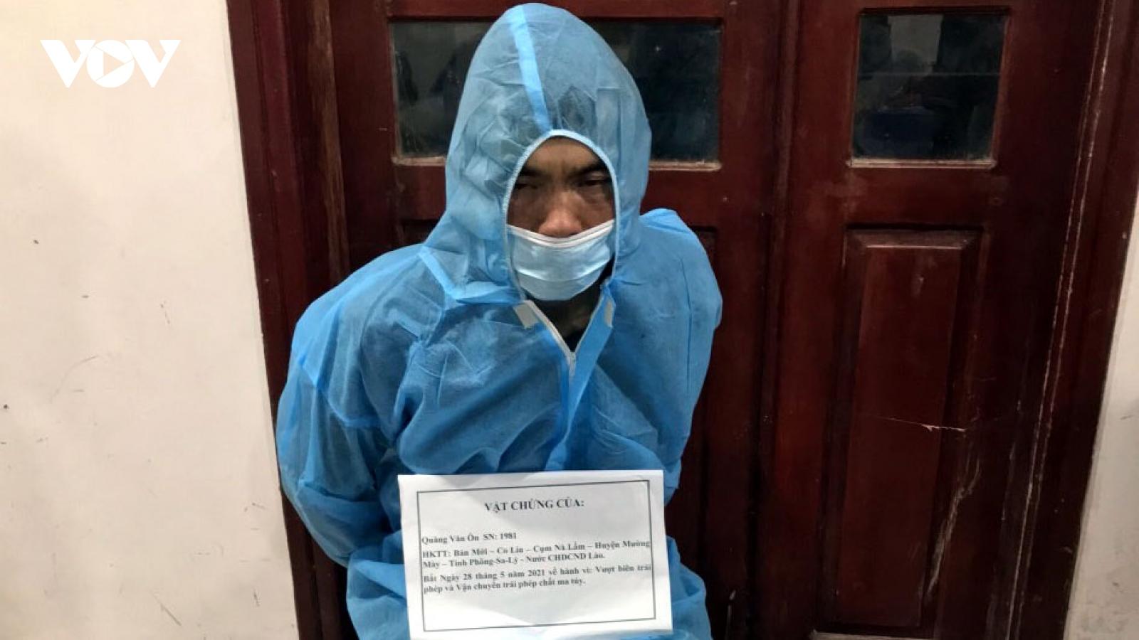 Bắt giữ đối tượng Quốc tịch Làotàng trữ chất ma túy và nhập cảnh trái phép