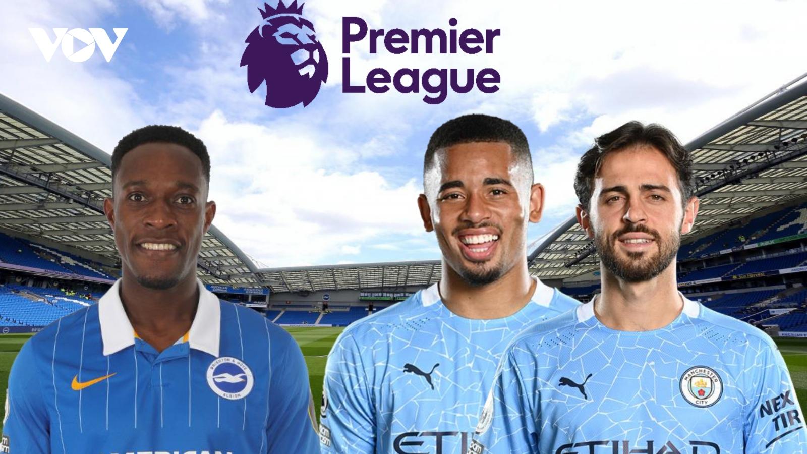 Dự đoán kết quả, đội hình xuất phát trận Brighton – Man City
