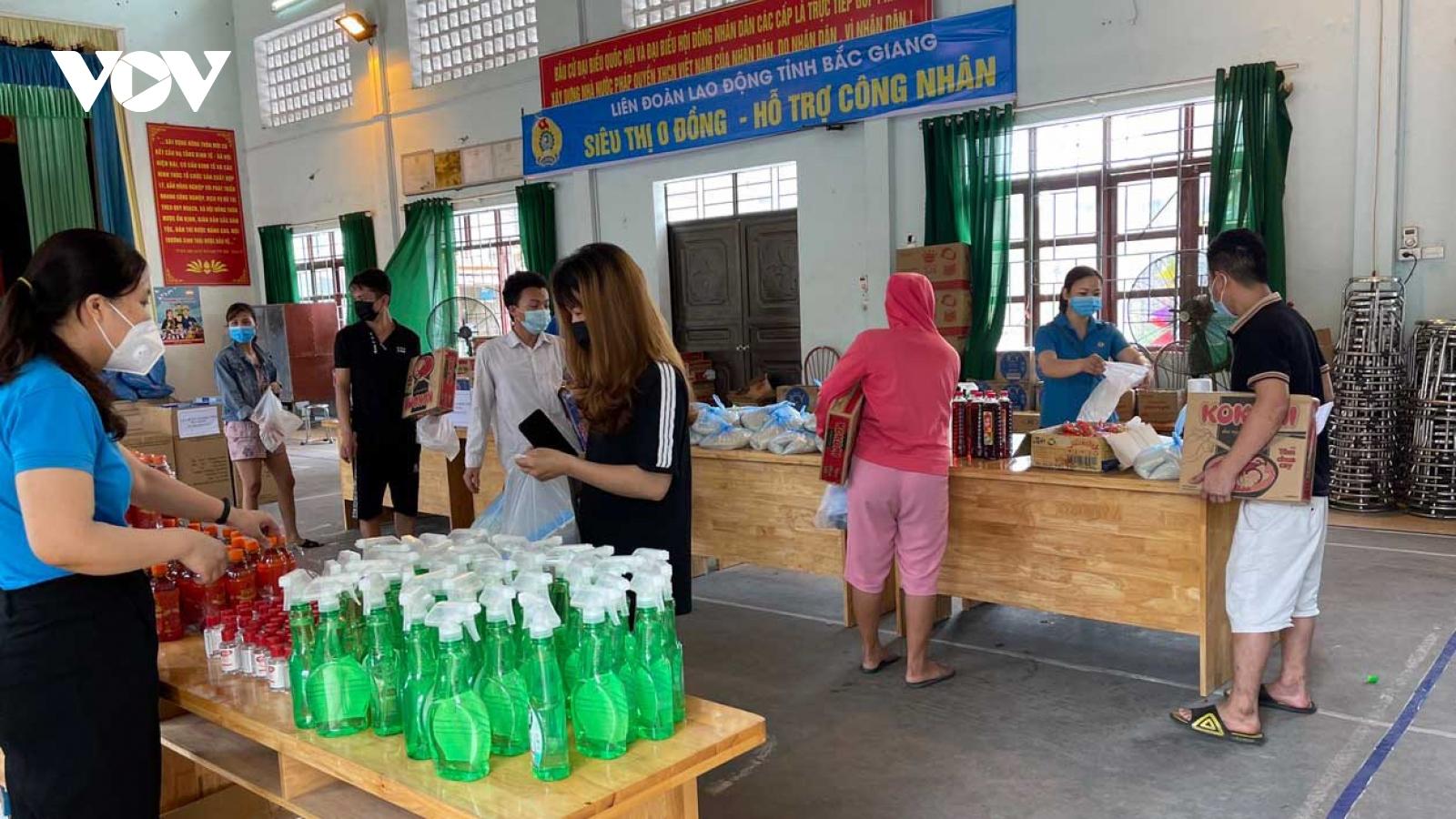 Ấm lòng siêu thị 0 đồng tại Bắc Giang