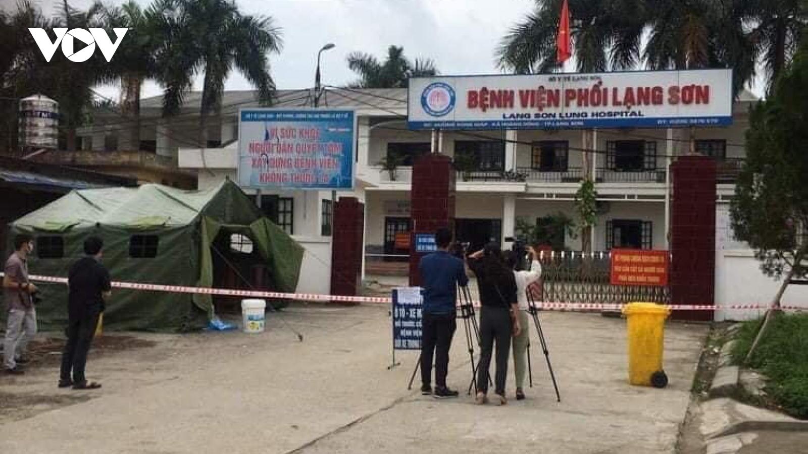 Phong tỏa Bệnh viện Phổi Lạng Sơn do có ca nghi mắcCOVID-19