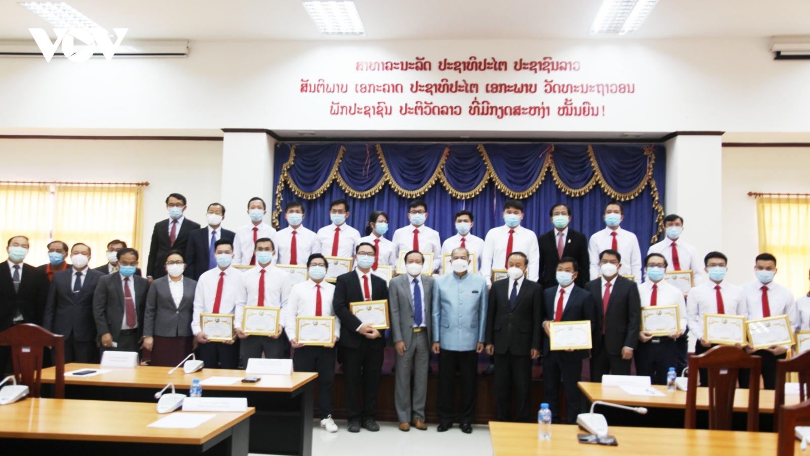 Chính phủLào đánh giá cao đoàn chuyên gia y tế Việt Nam giúpchống dịch Covid-19