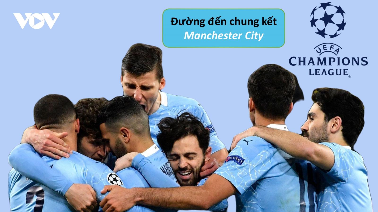 Đường đến chung kết Champions League 2020/2021 của Man City