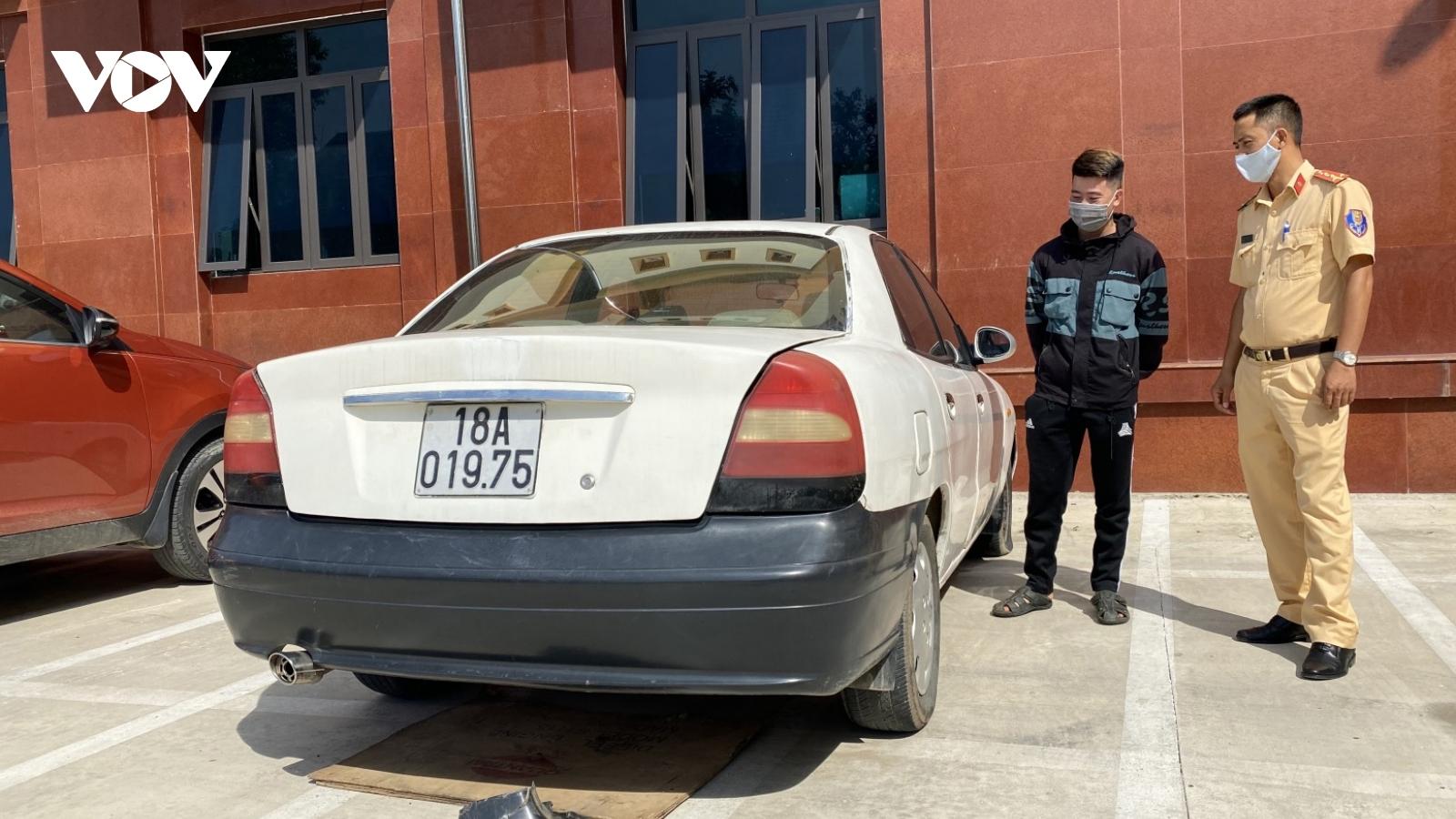 Vi phạm nồng độ cồn, một tài xế ở Điện Biên bị phạt 45 triệu đồng