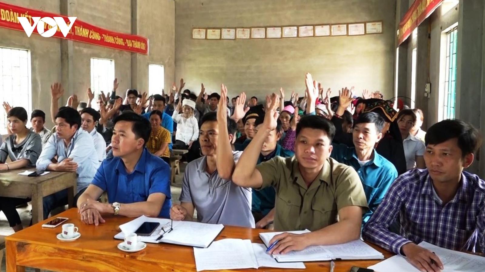 """Phong trào thi đua """"đi bầu đủ, đi bầu sớm"""" ở Yên Bái"""
