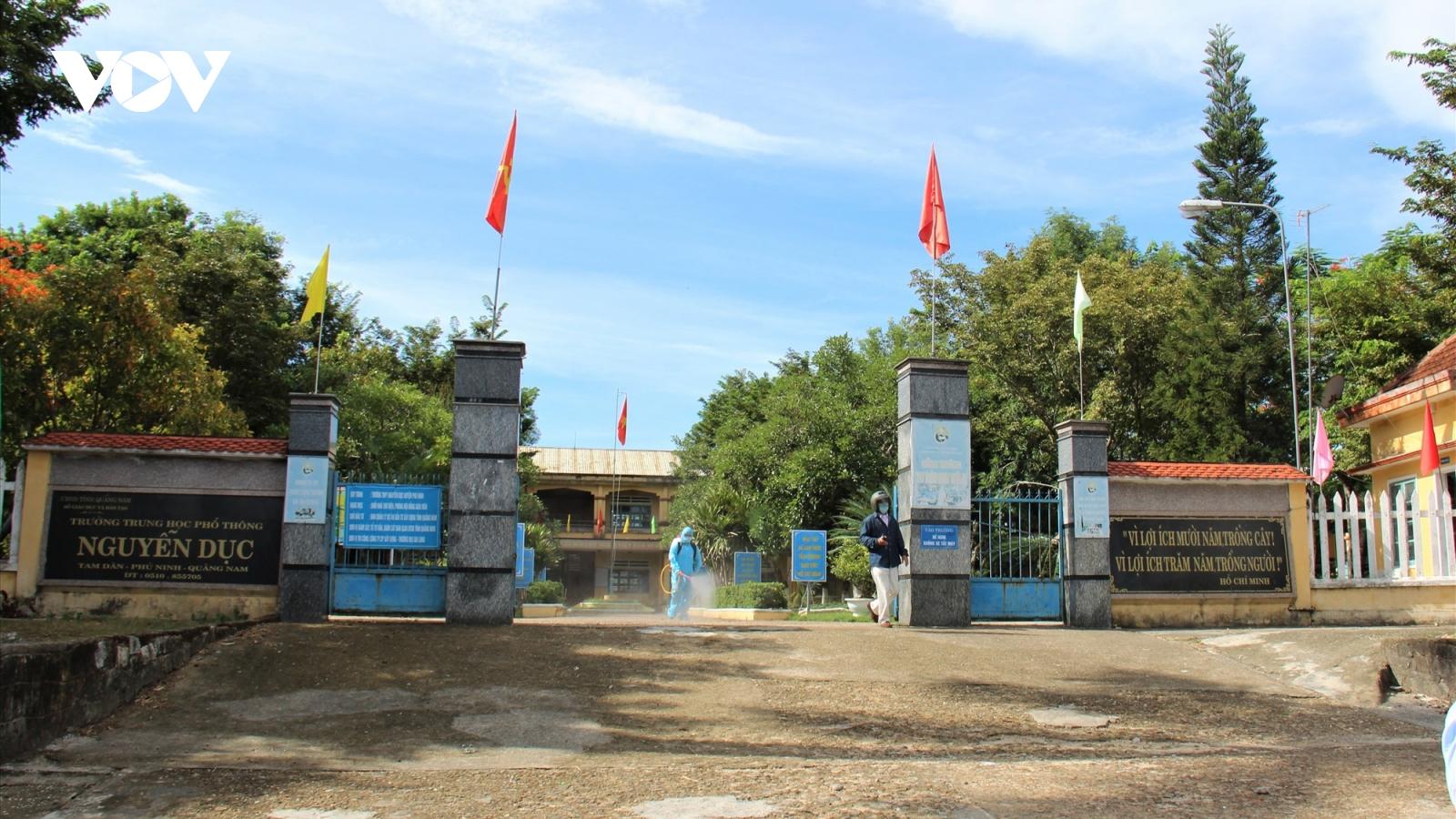 Quảng Nam cho học sinh nghỉ học từ 4/5 để phòng dịch Covid-19