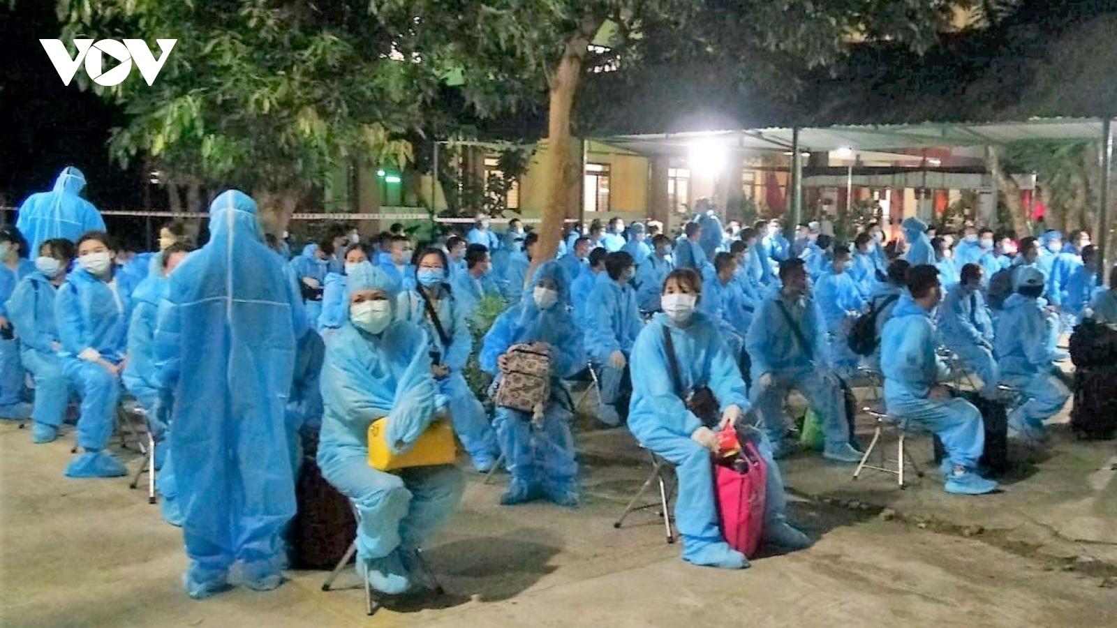 Quảng Ngãi tiếp nhận, cách ly 236 công dân về từ Đài Loan