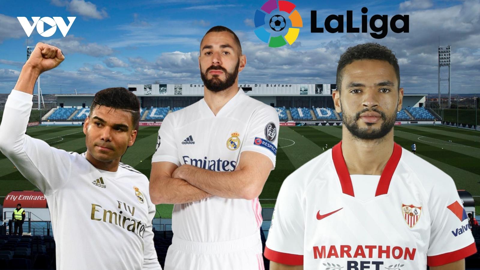 Dự đoán kết quả, đội hình xuất phát trận Real Madrid – Sevilla