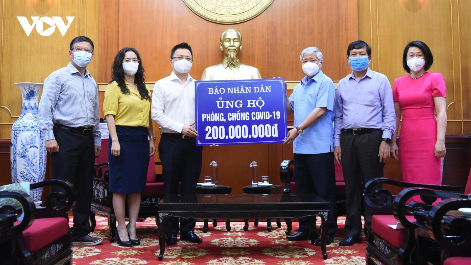 Phần lớn tiền do MTTQ Việt Nam tiếp nhận sẽ được chuyển sang Quỹ vaccine COVID-19