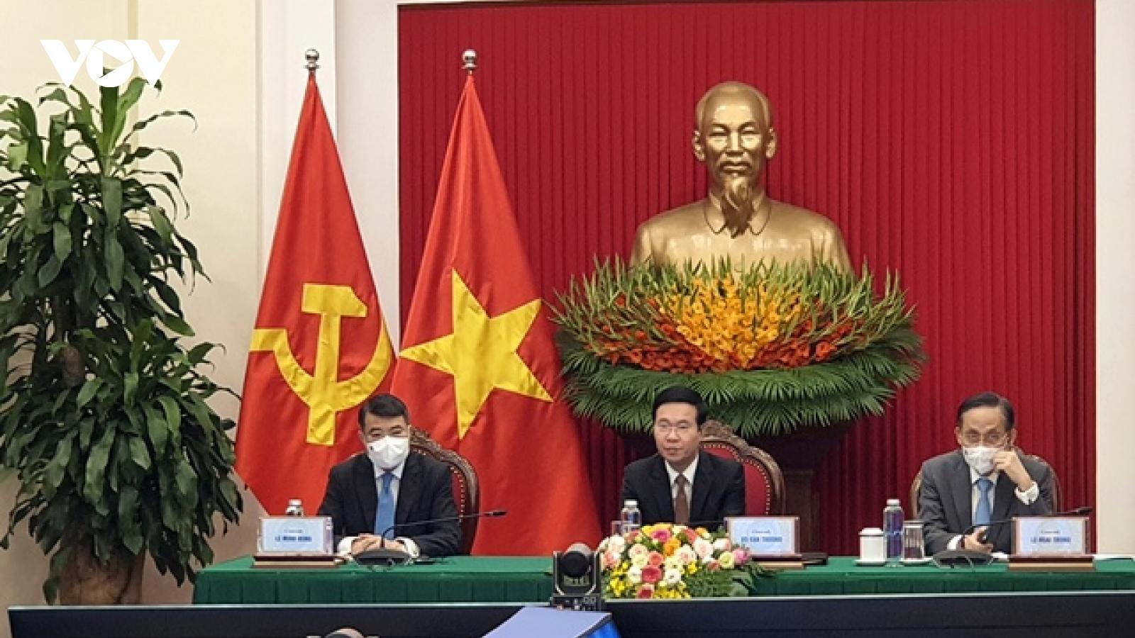 Ông Võ Văn Thưởng dự Hội nghị bàn tròn trực tuyến các chính đảng Nga-ASEAN