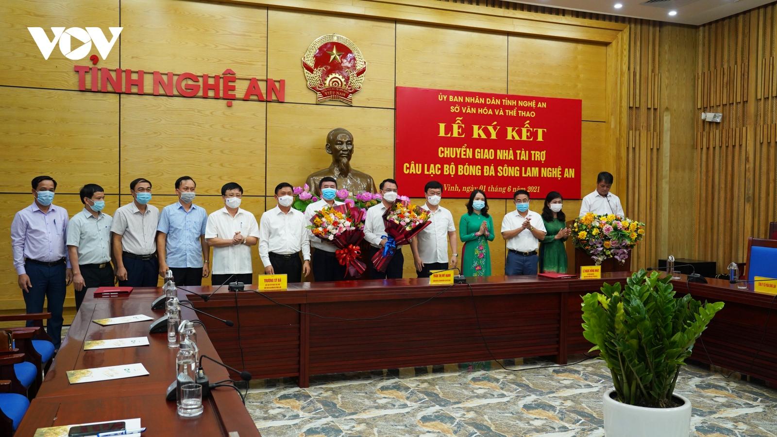 CHÍNH THỨC: SLNA đón nhà tài trợ mới, giữ nguyên tên gọi và bản sắc đội bóng xứ Nghệ