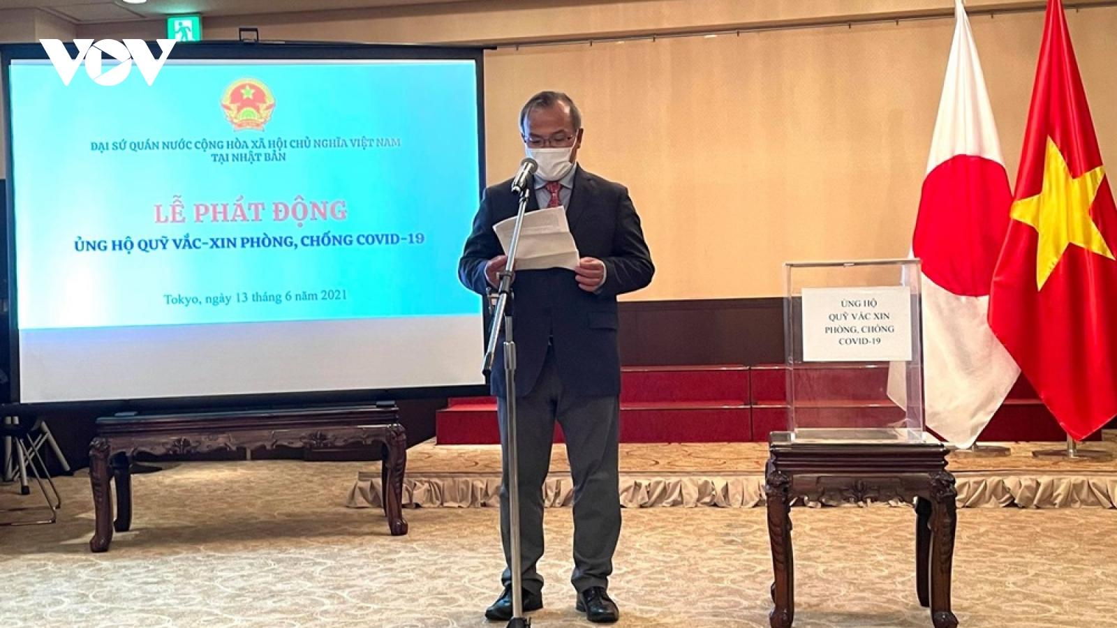 ĐSQ Việt Nam tại Nhật Bản phát động ủng hộ quỹ vaccine phòng chống Covid-19