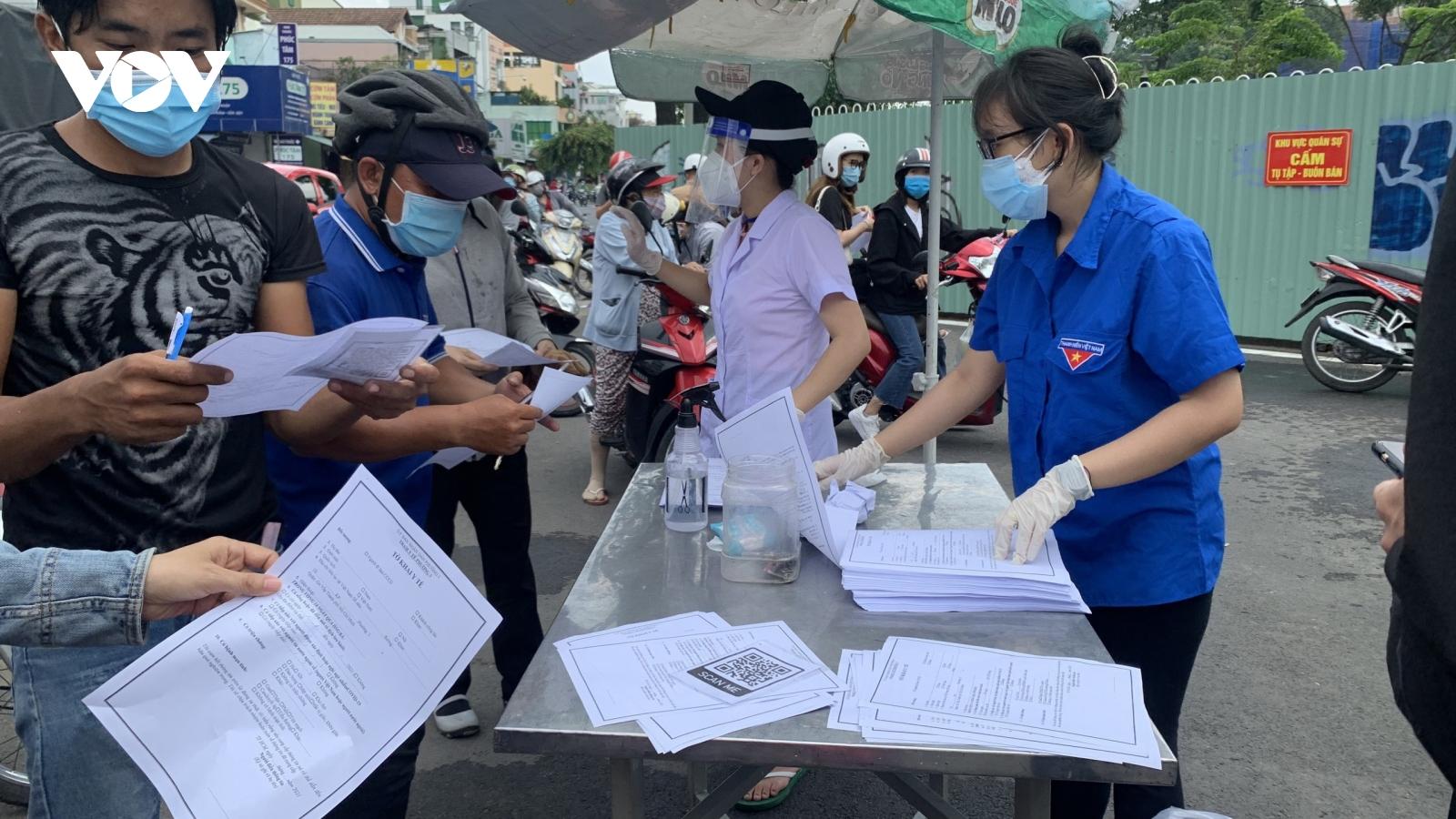 TP.HCM trriển khai quy trình khai báo y tế điện tử cho người ra vào quận Gò Vấp