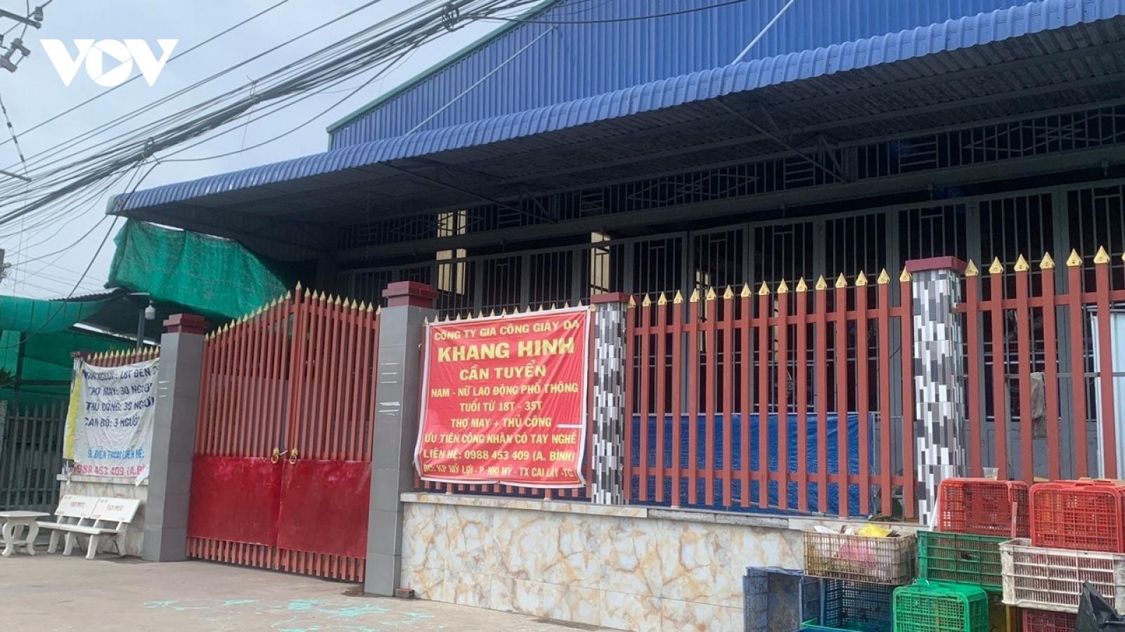 Toàn bộ công nhân của doanh nghiệp bị phong tỏa ở Tiền Giang đã âm tính với SARS-CoV-2