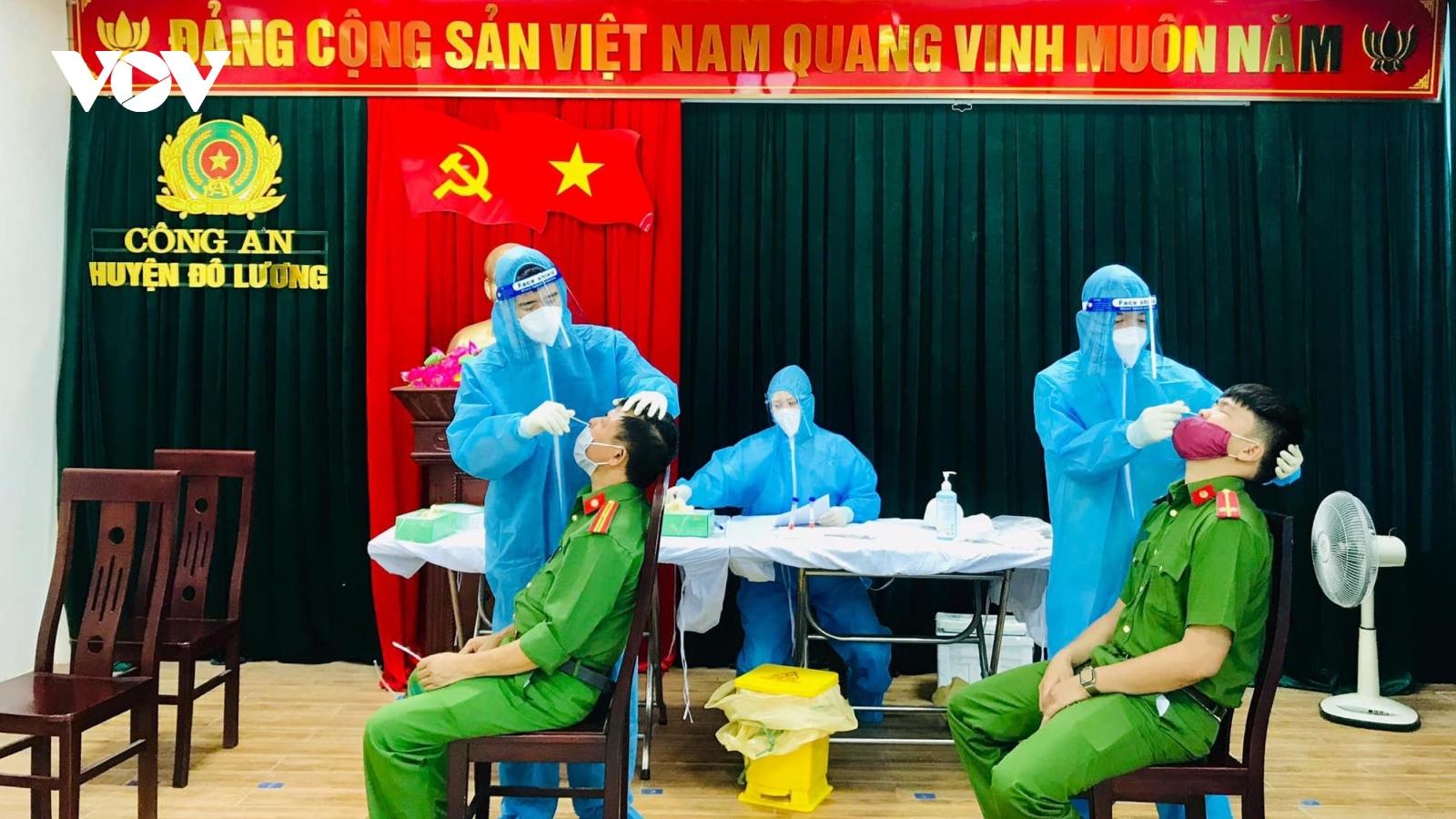 Phong tỏa trụ sở Công an huyện Đô Lương (Nghệ An) vì cán bộ mắc Covid-19