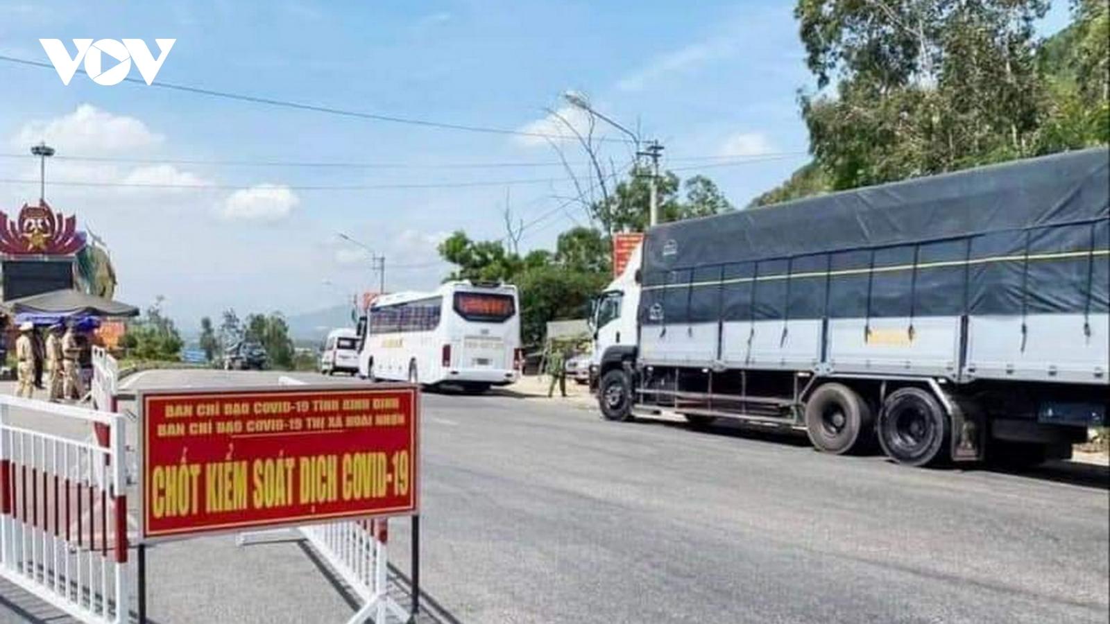 Bình Định thiết lập lại 2 chốt kiểm tra y tế tại cửa ngõ phía Bắc
