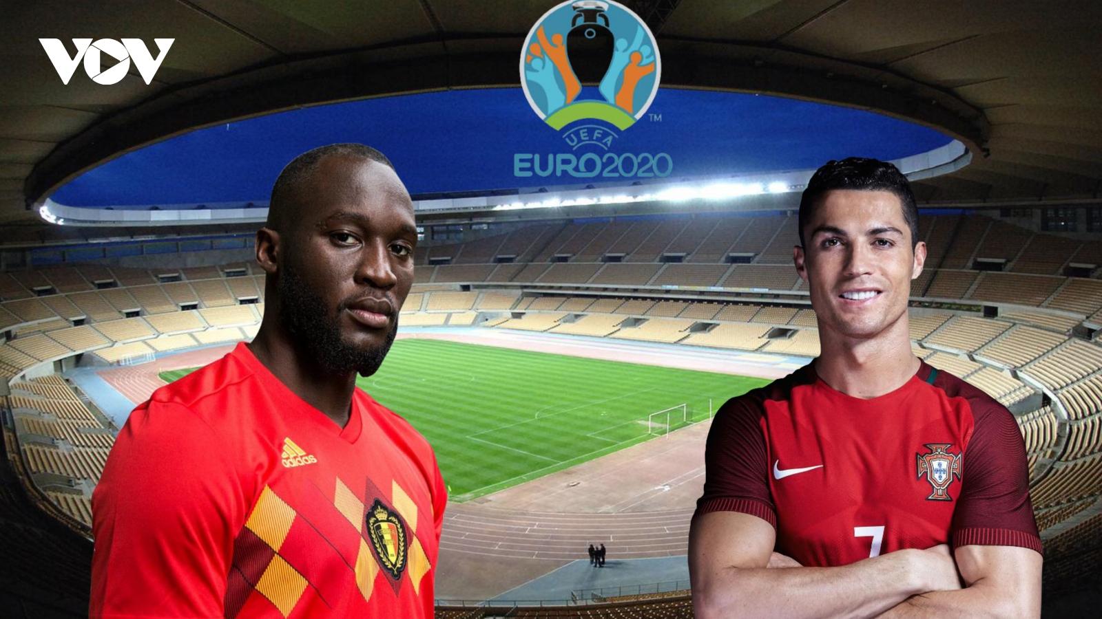 Vòng 1/8 EURO 2021 Bỉ - Bồ Đào Nha: Lukaku đối đầu Ronaldo