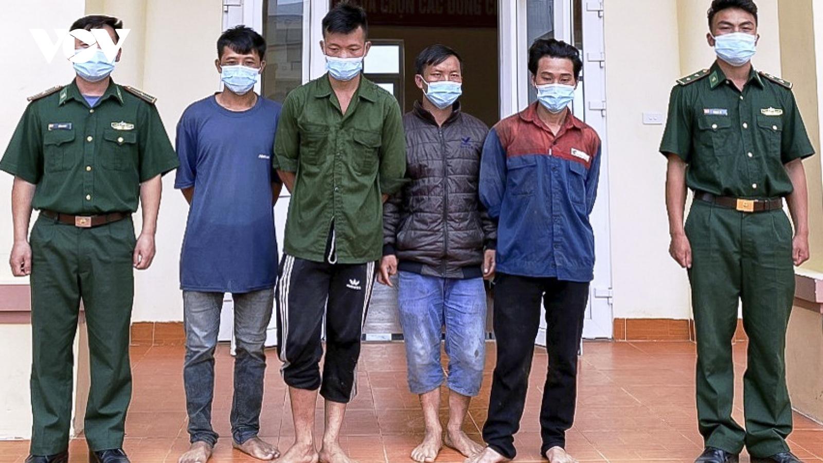 Phát hiện 4 đối tượng vượt biên trái phép ở Điện Biên