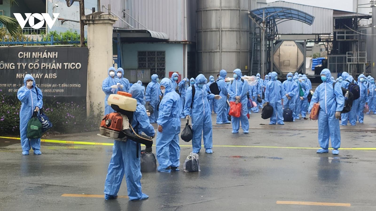 Cảnh giác với giai đoạn dịch COVID-19 xâm nhập vào các khu công nghiệp