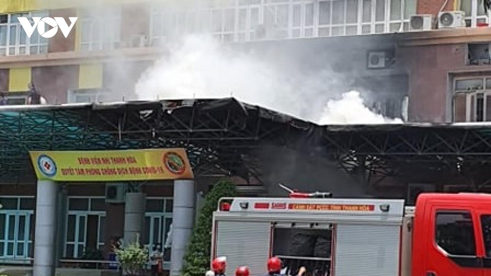 Kịp thời dập tắt đám cháy tại Bệnh viện Nhi Thanh Hóa