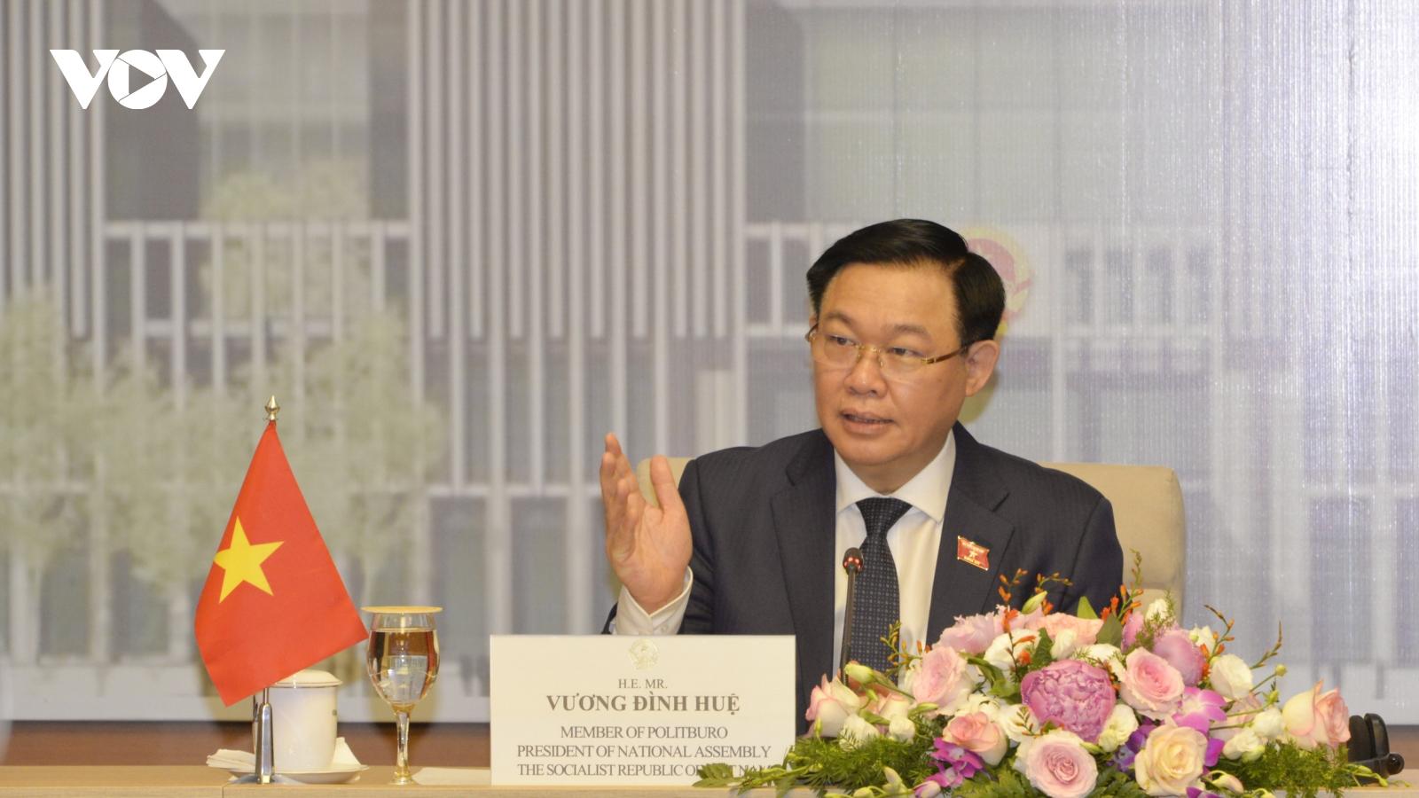 Chủ tịch Quốc hội Việt Nam và Brunei hội đàm trực tuyến về chia sẻ nguồn vaccine