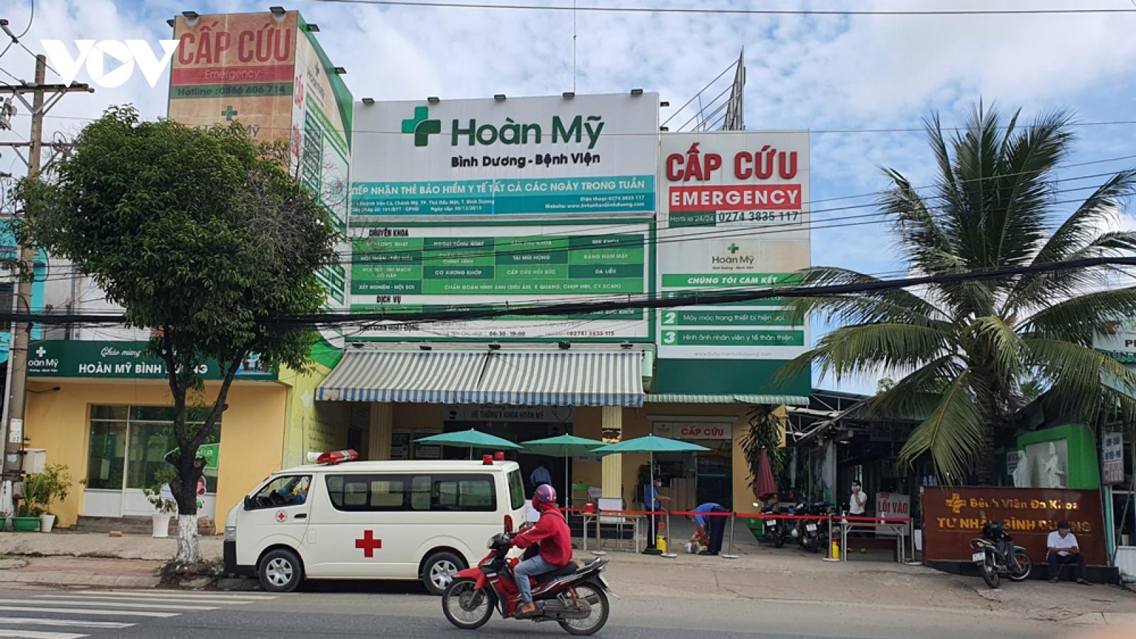 Một bệnh viện tại Bình Dương tạm ngưng nhận bệnh nhân do ca nghi mắc Covid-19
