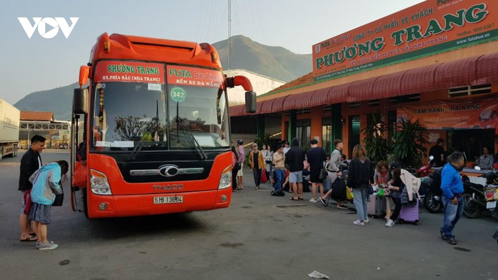 Khánh Hòa tạm dừng vận tải hành khách đến TP Đà Nẵng