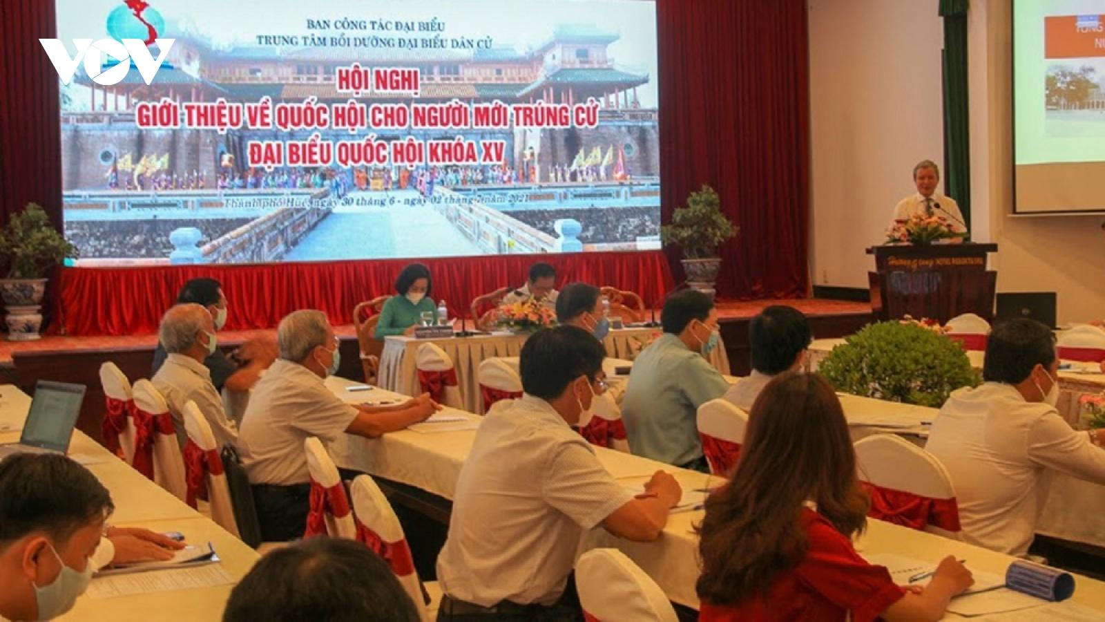 Tập huấn nâng cao kỹ năng cho đại biểu Quốc hội mới trúng cử