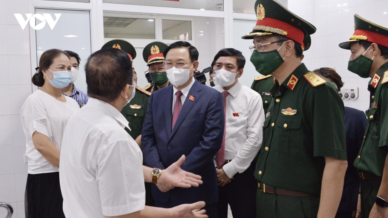 Chủ tịch Quốc hội: Học viện Quân y cần đẩy nhanh tiến độ sản xuất vaccine Nanocovax