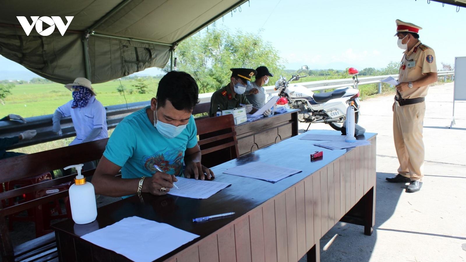 Quảng Nam thành lập 5 chốt kiểm soát phòng, chống dịch Covid-19