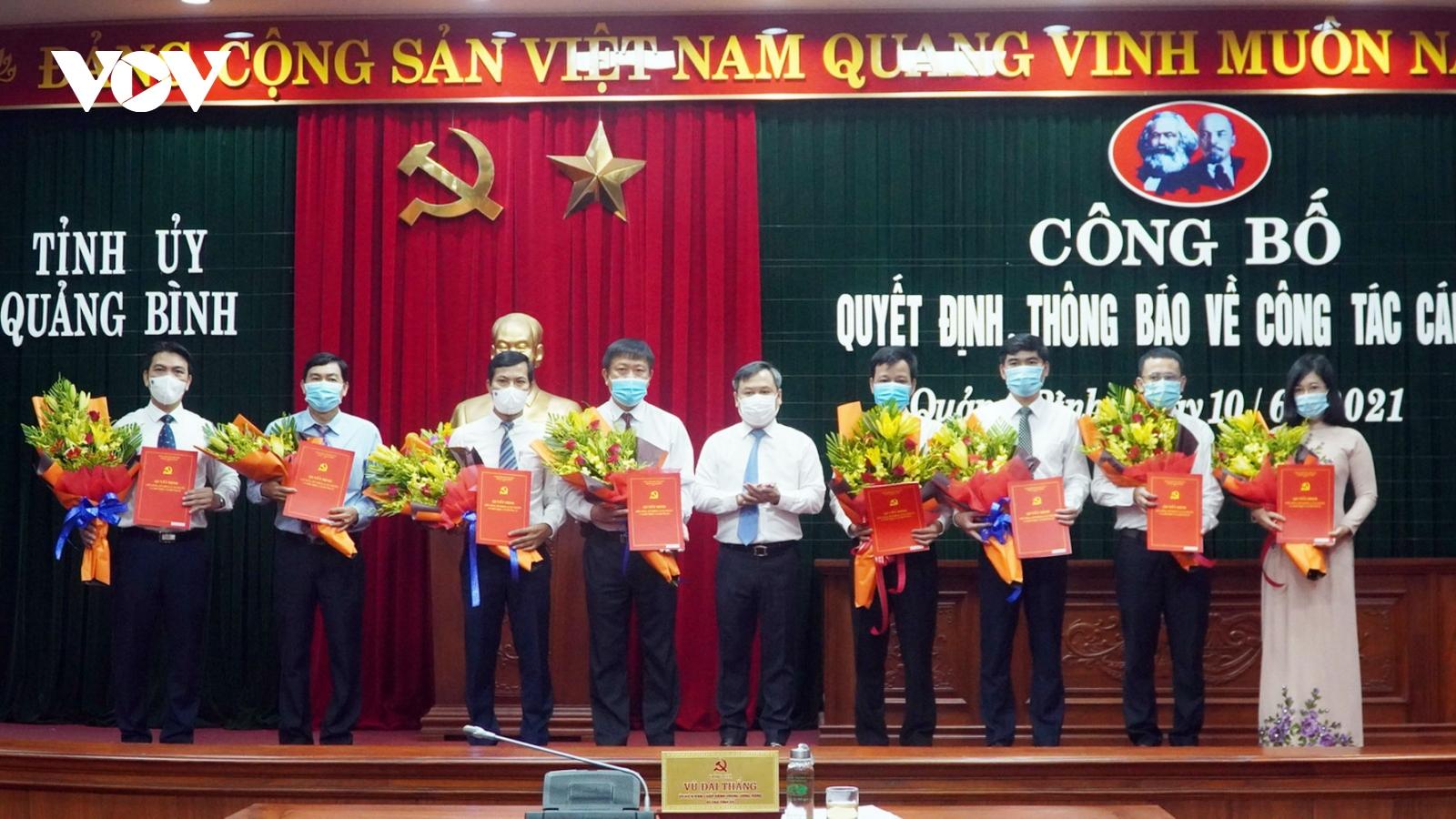 Quảng Bình điều động, bổ nhiệm 8 lãnh đạo cấp Sở