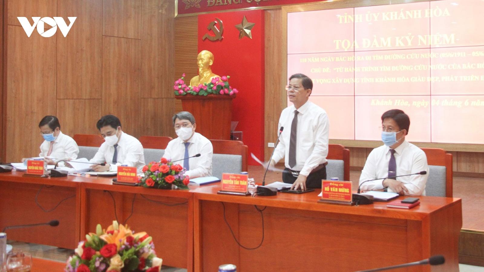 Tỉnh ủy Khánh Hòa tọa đàm nhân kỷ niệm 110 năm ngày Bác Hồ ra đi tìm đường cứu nước
