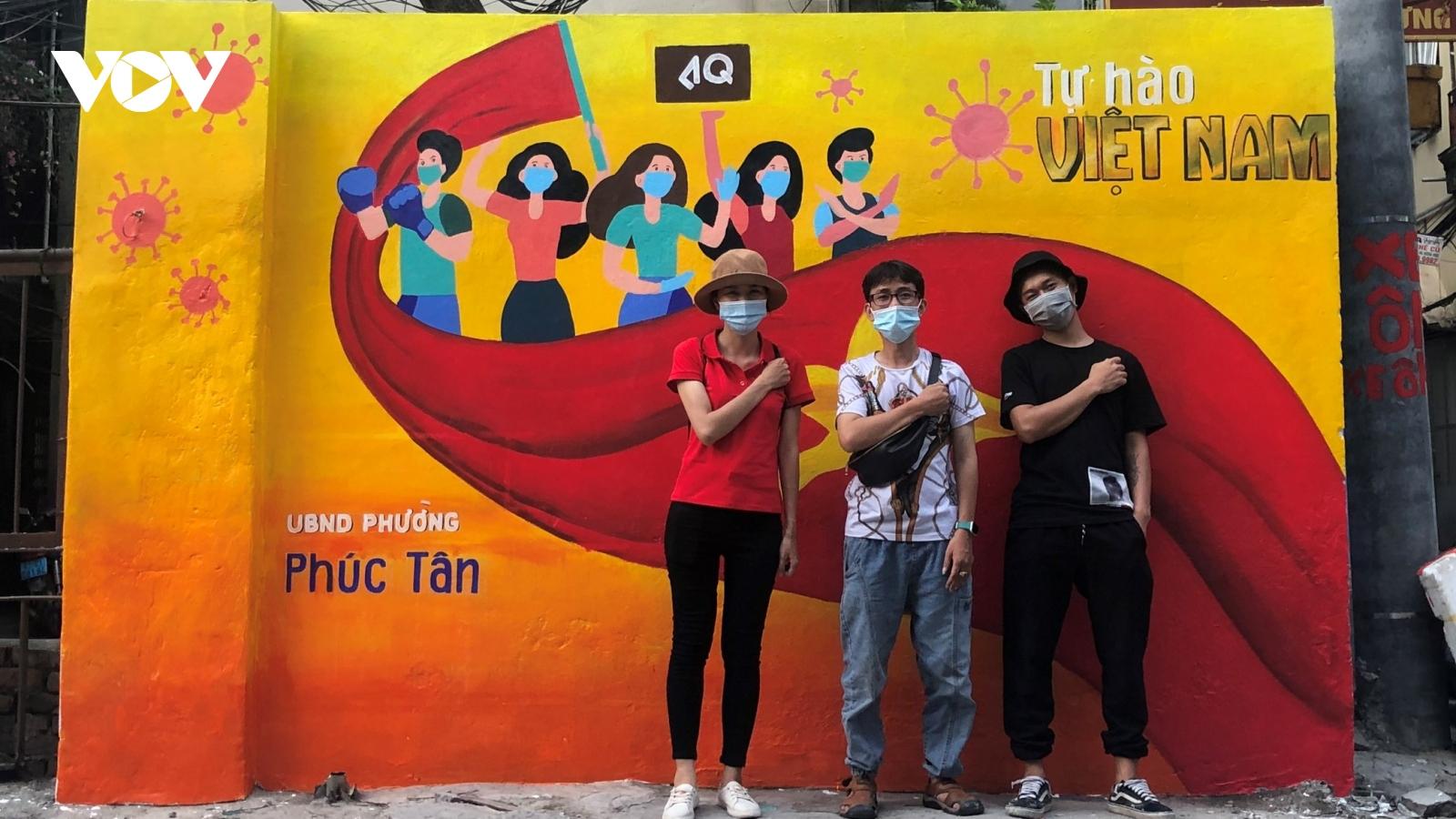 Những bức bích họa tuyên truyền phòng, chống dịch Covid-19 phủ khắp Hà Nội