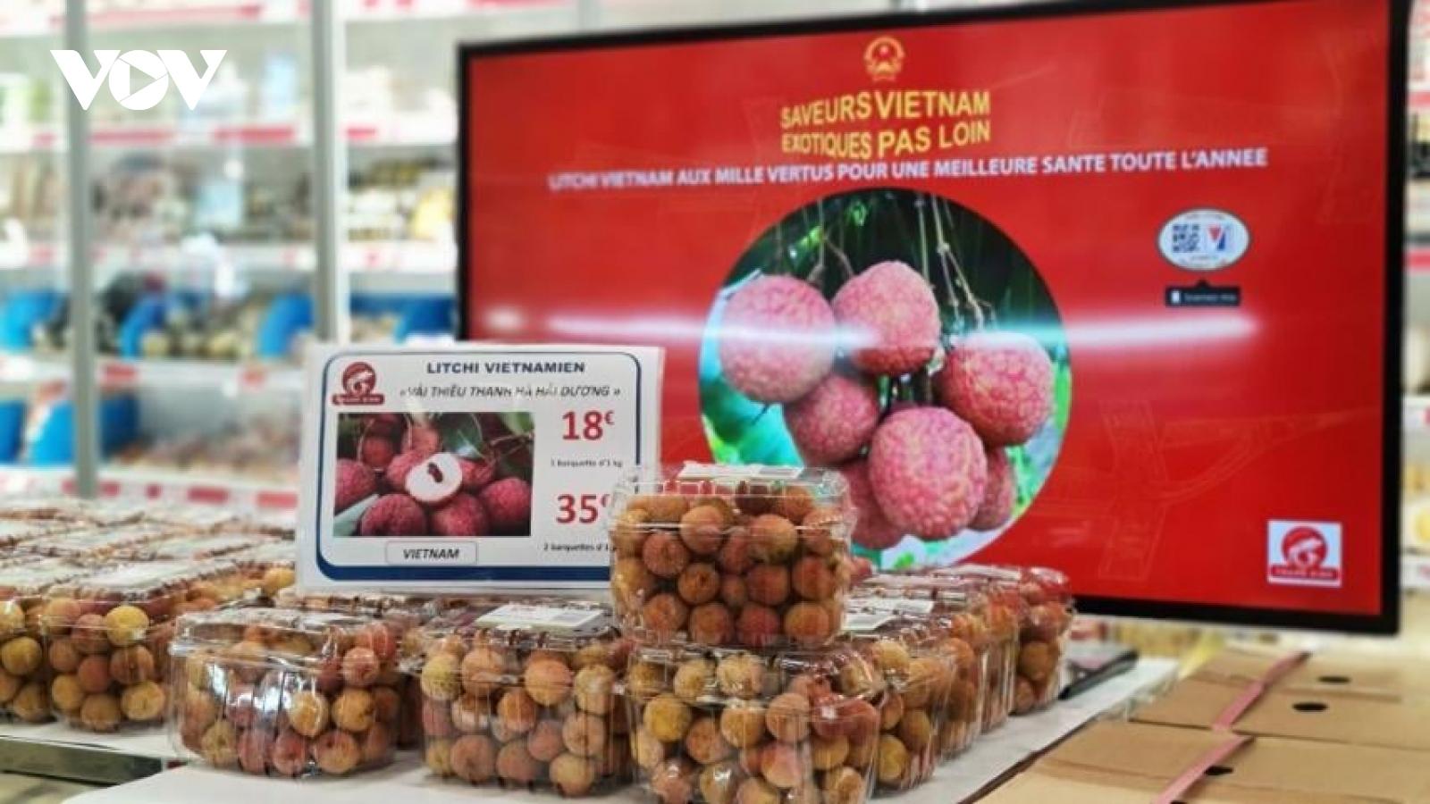Kênh phân phối tại Pháp đẩy nhanh kế hoạch nhập khẩu vải thiều Việt Nam