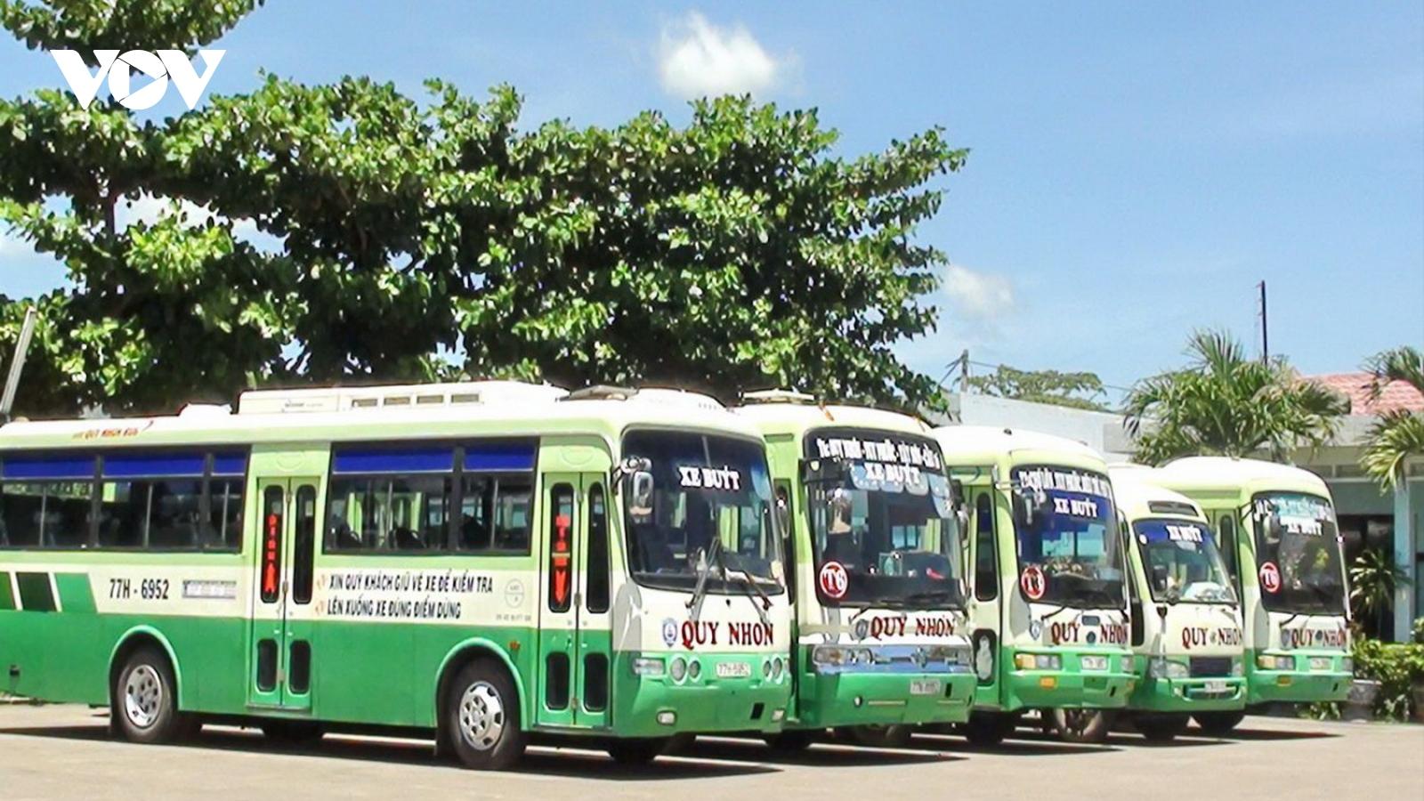 Bình Định tạm dừng hoạt động xe khách đi Phú Yên, Đà Nẵng