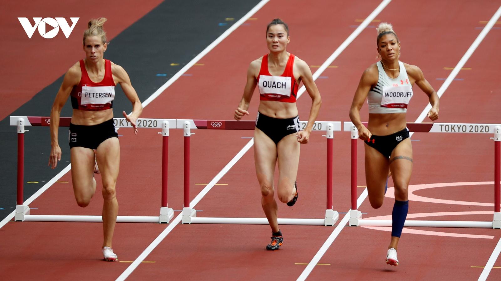 Vào bán kết 400m rào Olympic Tokyo, Quách Thị Lan làm nên lịch sử cho điền kinh Việt Nam