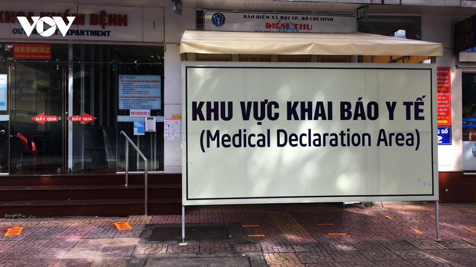 Các bệnh viện tại TP.HCM phát hiện 459 ca F0 qua khám sàng lọc