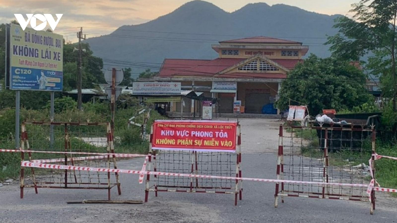 Thừa Thiên Huế thực hiện giãn cách xã hội đối với xã Lộc Thủy, huyện Phú Lộc