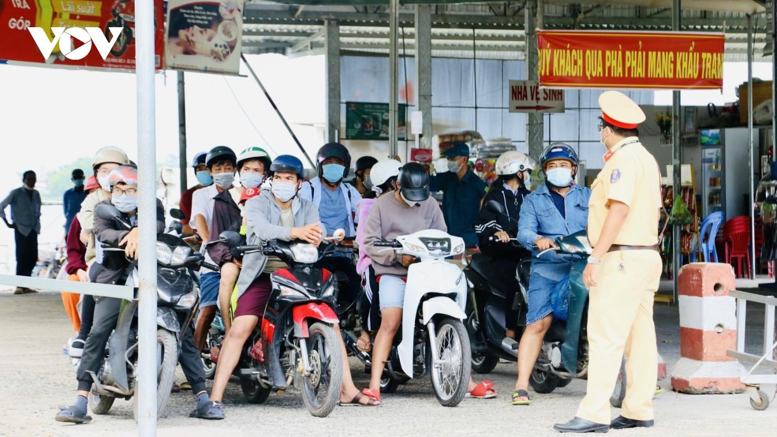 Tạm dừng hoạt động vận tải hành kháchtại các bến sông liên tỉnh Cần Thơ- Đồng Tháp