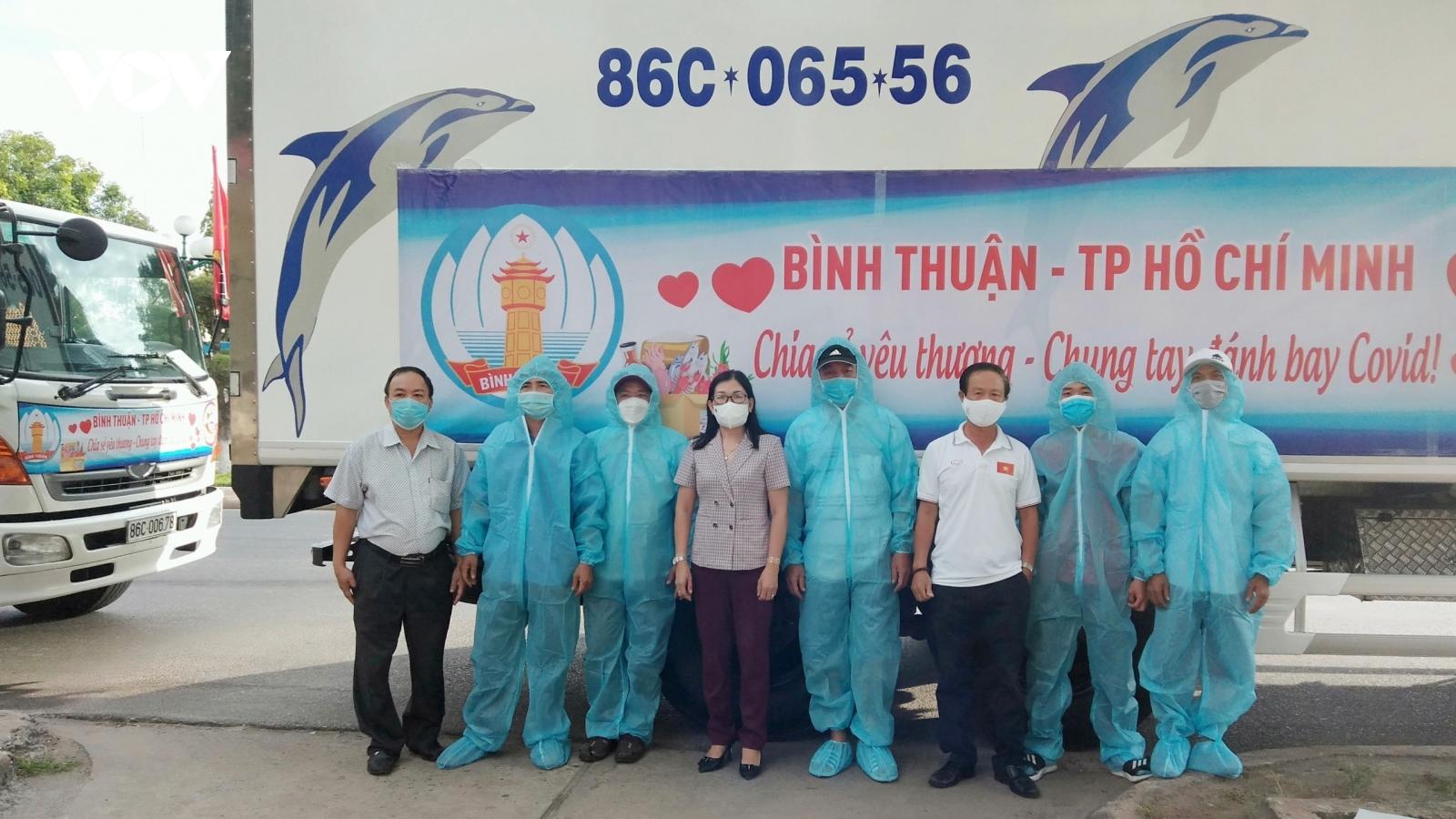4 chuyến hàng của Bình Thuận đến với nhân dân TP.HCM