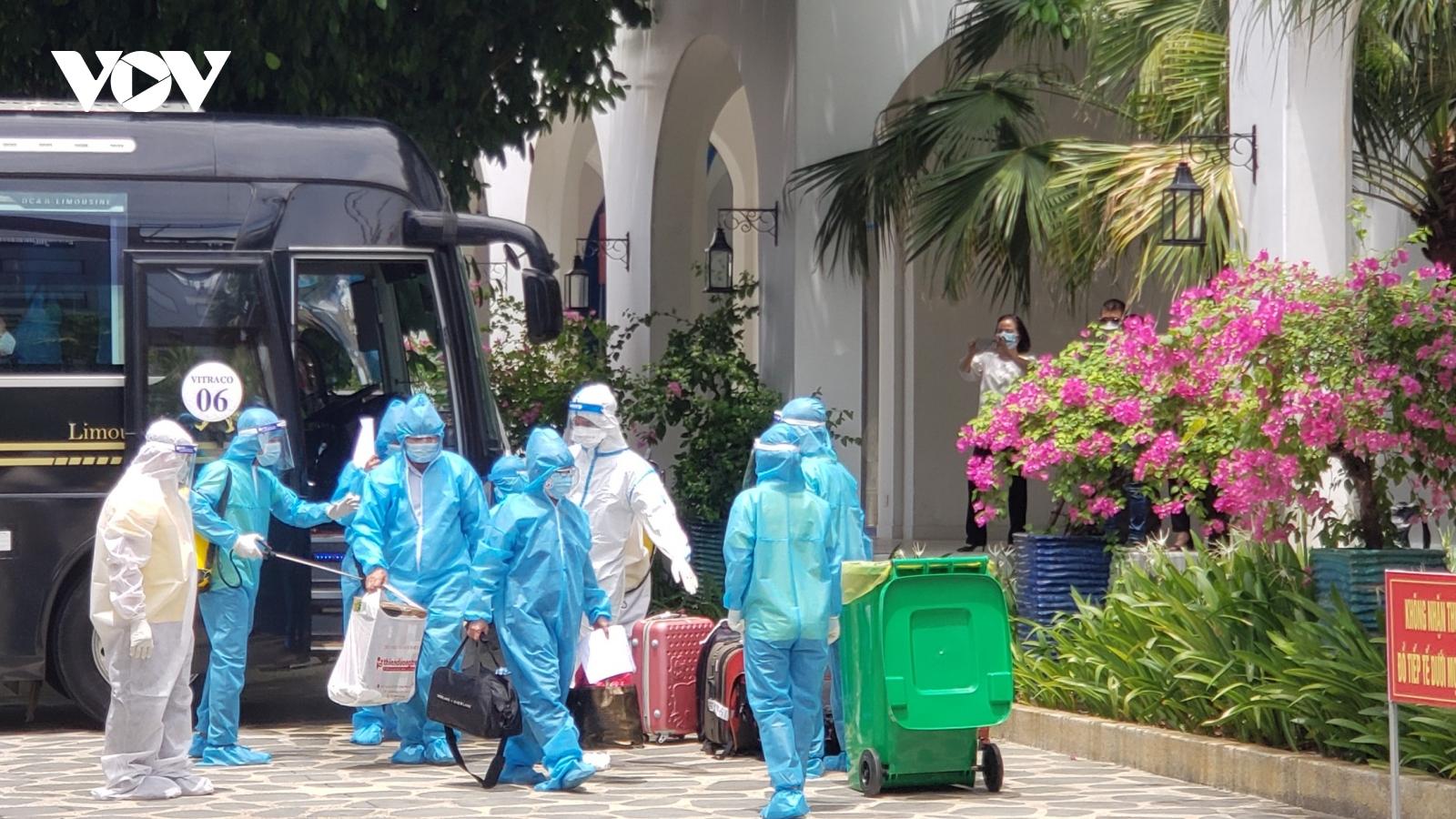 Hơn 600 người từ TP.HCM về Đà Nẵng được miễn phí tiền ăn, ở, sinh hoạt phí