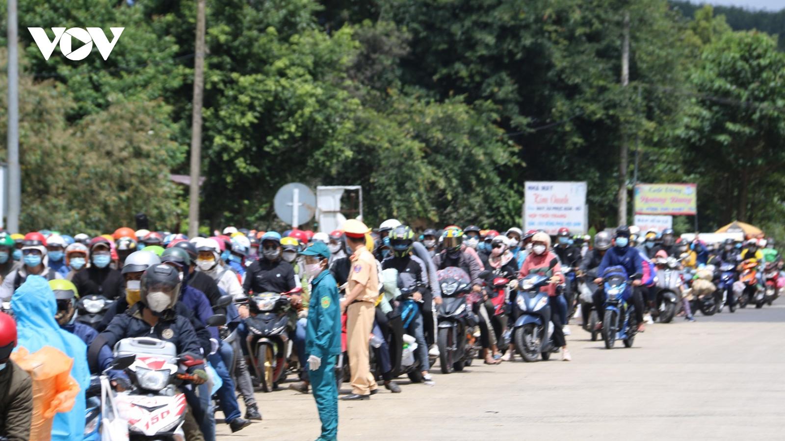 Đắk Nông, Đắk Lắk chưa thể vào vùng dịch phía Nam đón công dân về