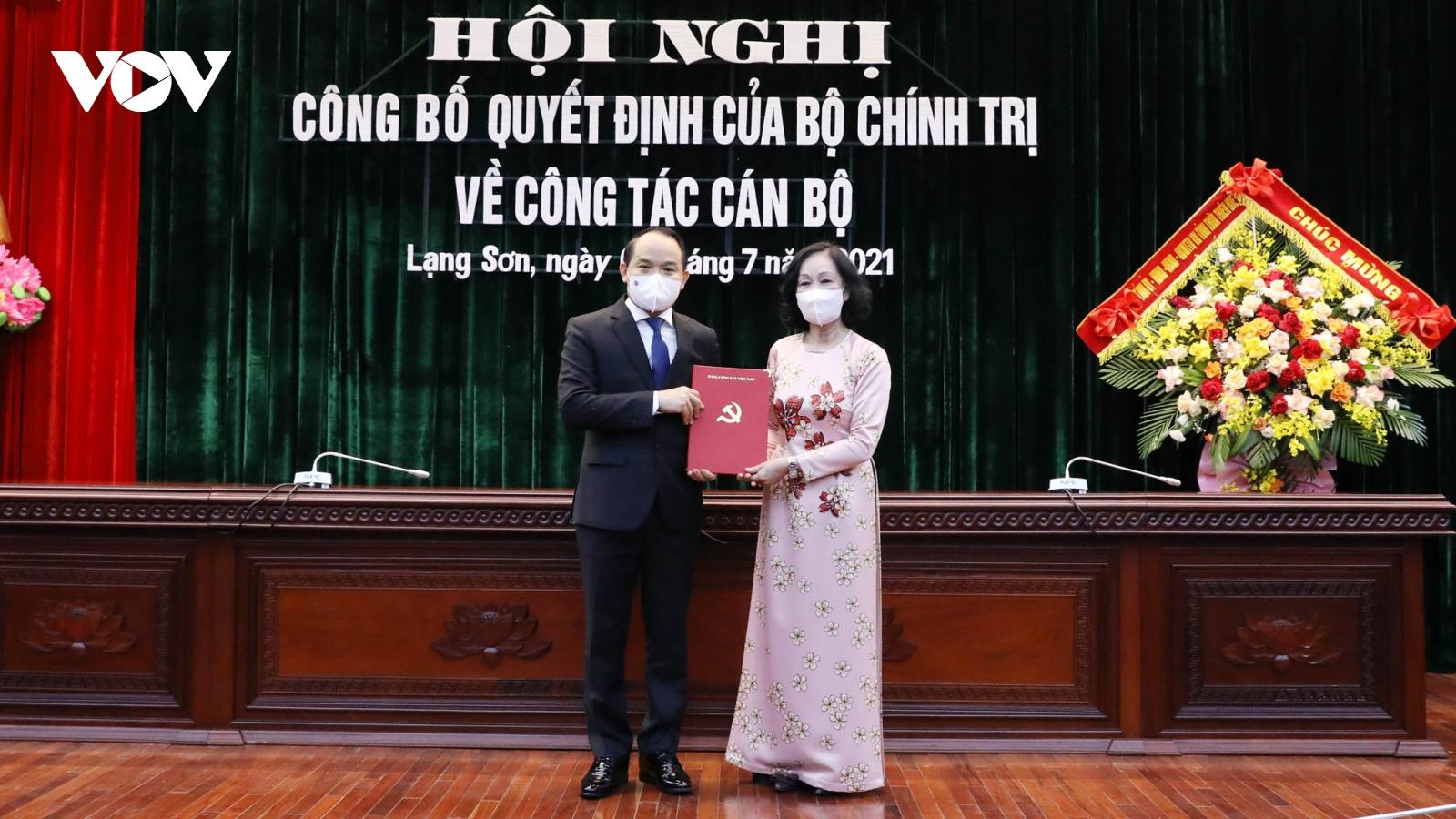 Ông Nguyễn Quốc Đoàn được điều động làm Bí thư Tỉnh uỷ Lạng Sơn