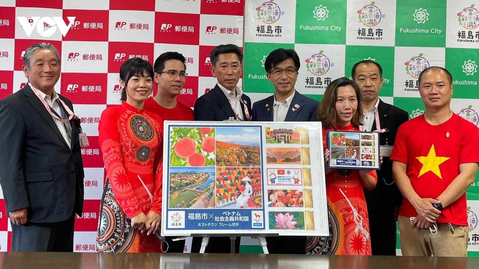 Thành phố Fukushima (Nhật Bản) phát hành bộ tem cổ vũ vận động viên Việt Nam