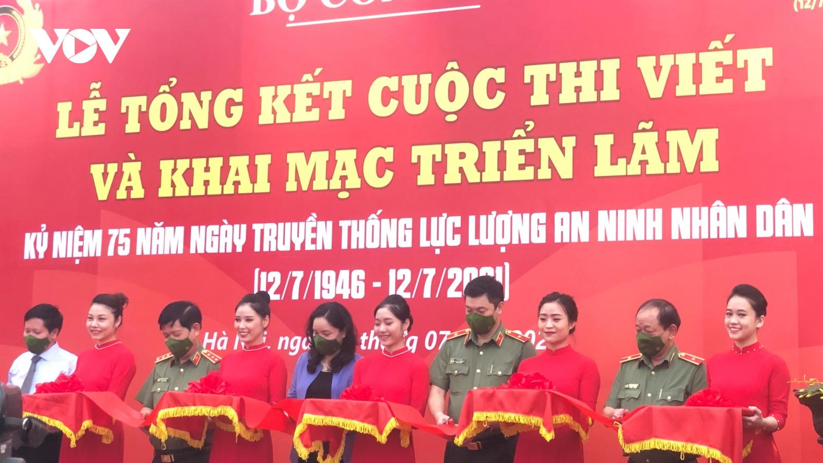 """Trao giải cuộc thi viết và khai mạc triển lãm """"75 năm lực lượng ANND Việt Nam Anh hùng"""""""