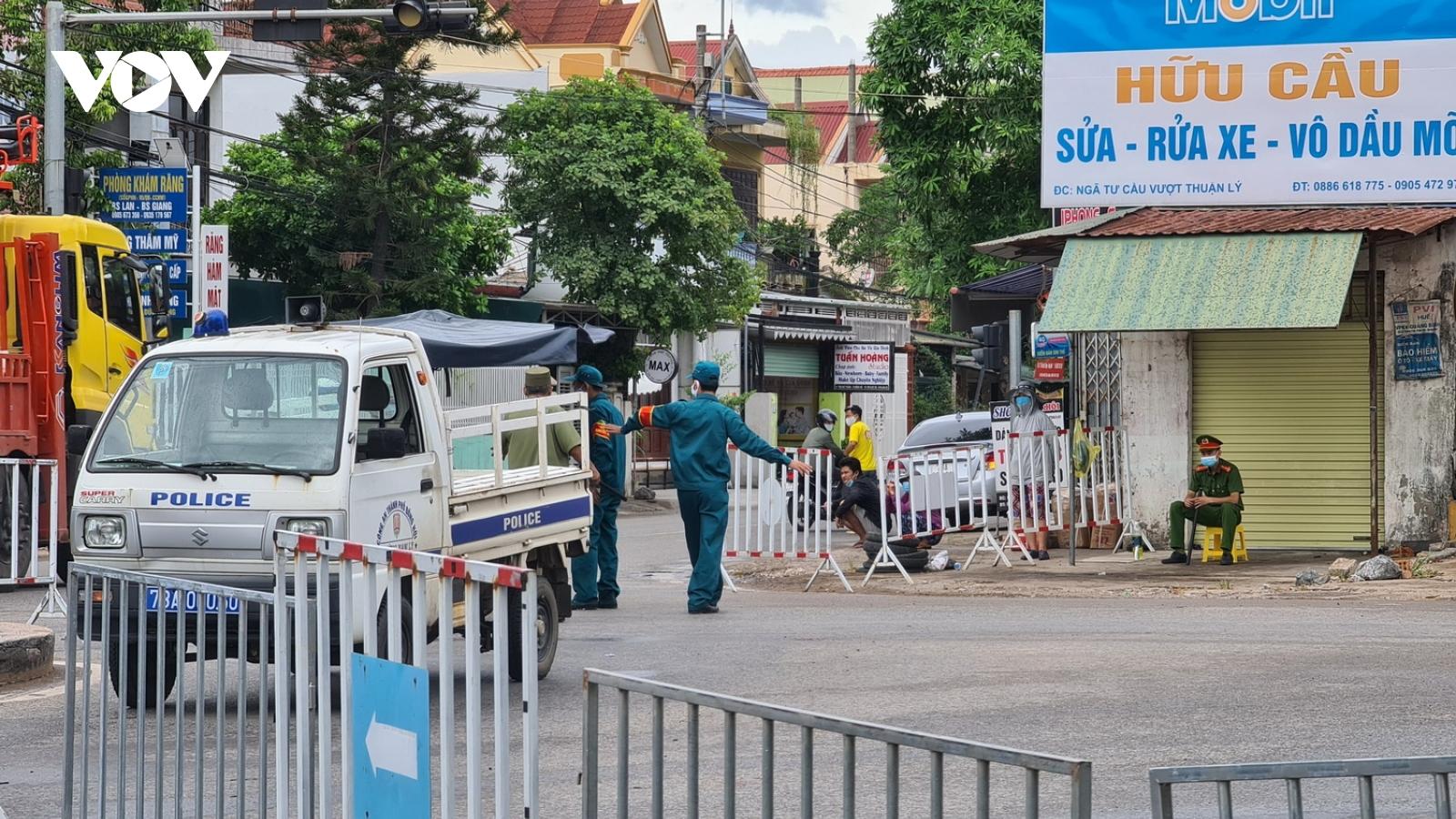 Quảng Bình: Thêm 2 huyện thực hiện giãn cách xã hội