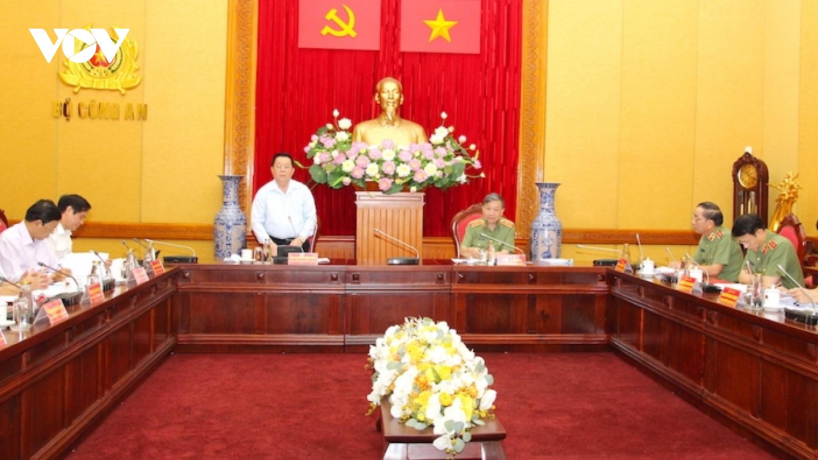 Đoàn kiểm tra của Ban Bí thư làm việc với Ban Thường vụ Đảng ủy Công an Trung ương
