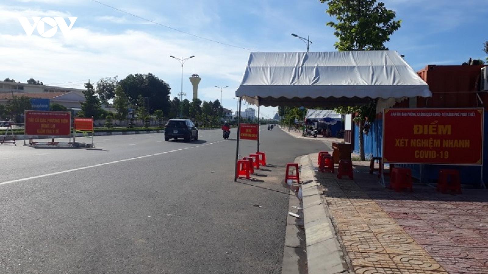 Giãn cách toànthành phố Phan Thiết từ ngày 2/8 theoChỉ thị số 16
