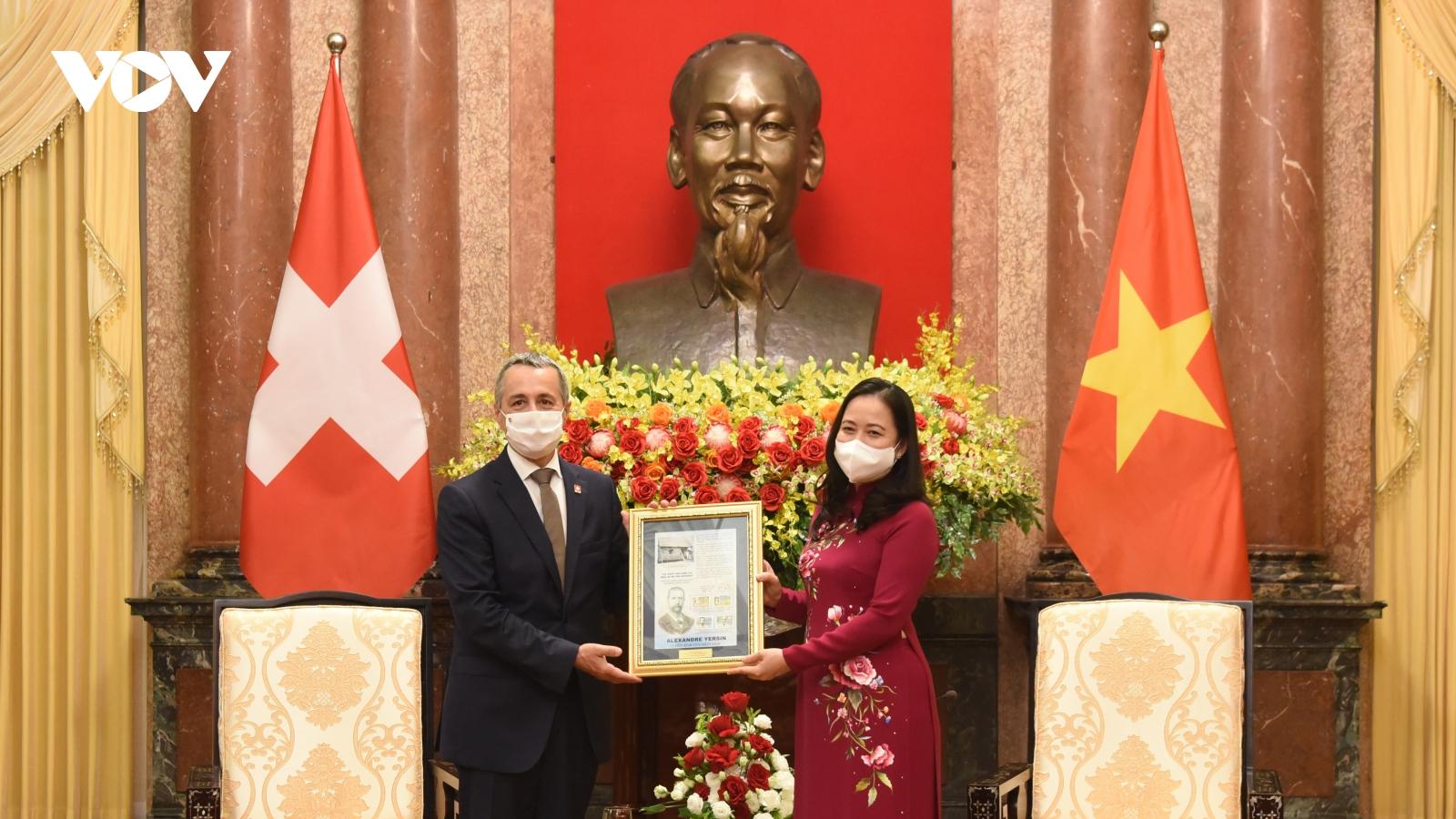 Phó Chủ tịch nước Võ Thị Ánh Xuân tiếp Phó Tổng thống Thụy Sỹ Ignazio Cassis