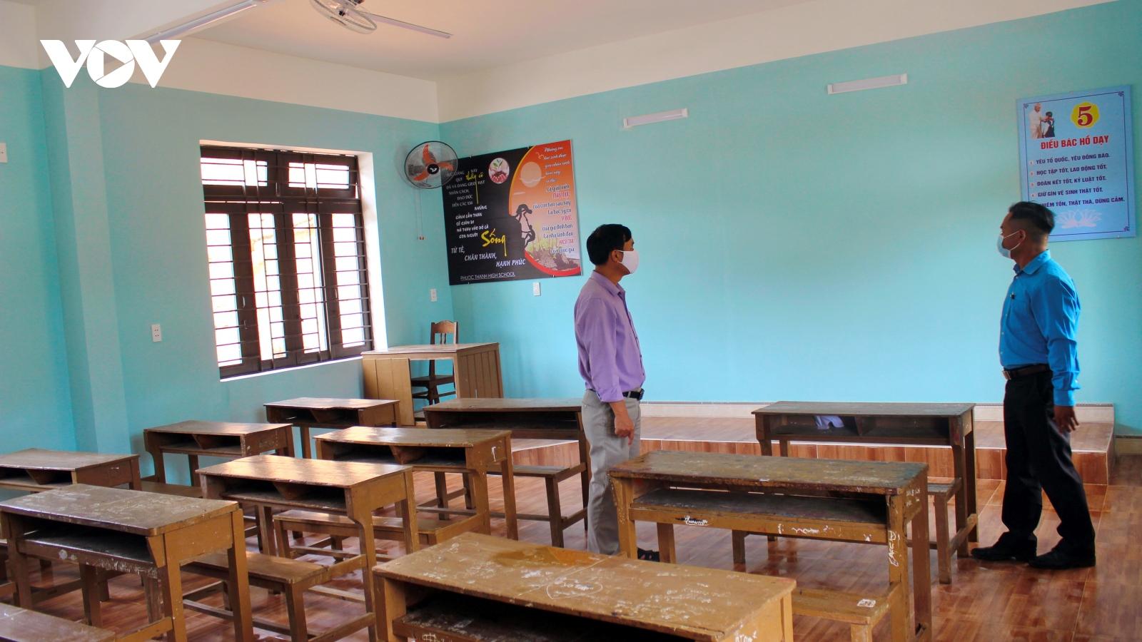 Quảng Nam kích hoạt lại các tổ giám sát an toàn Covid-19 ở các cơ sở giáo dục và đào tạo
